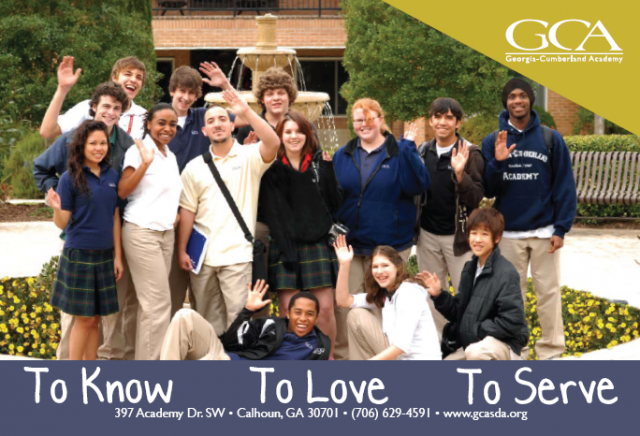 The consequences for not smiling in this promotional picture did not need to be spelled out for these students...