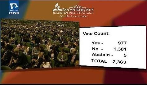 The vote...