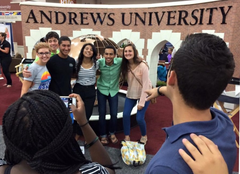 Hanging out at Adventist university booths ups the odds of meeting someone exponentially...