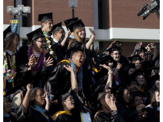 La Sierra's last single graduates...