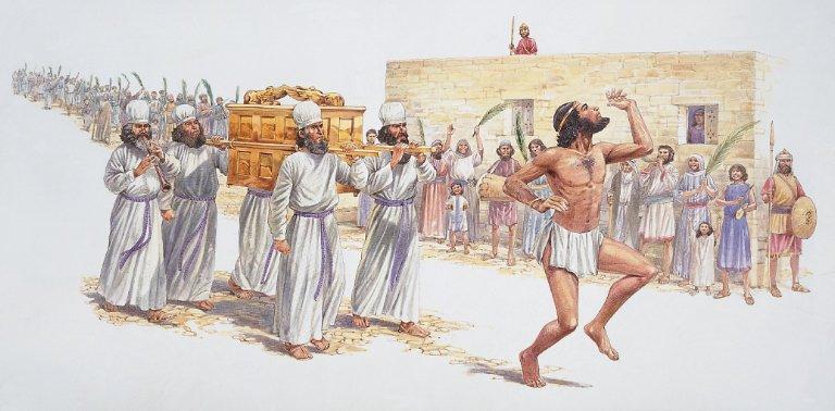 King David dancing around irresponsibly... 2 Samuel 6: 12-23