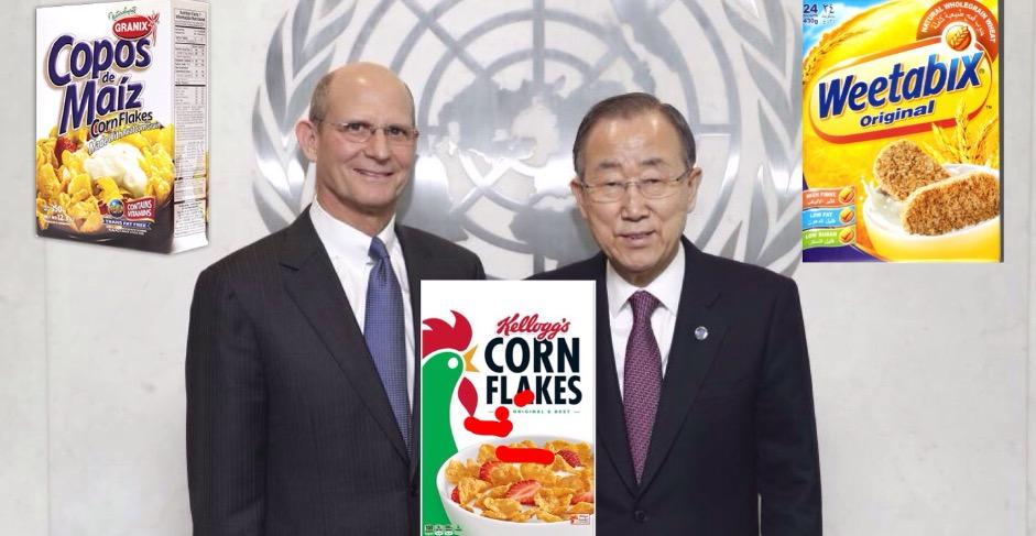 UN Secretary General Ban Ki-moon and GC President Ted Wilson at the UN Headquarters.