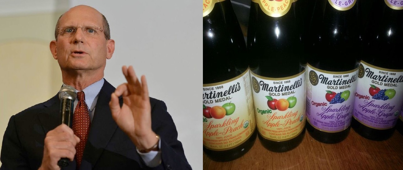 """Ted Wilson toasting 2016: """"Jesus turned water into Martinelli's"""""""