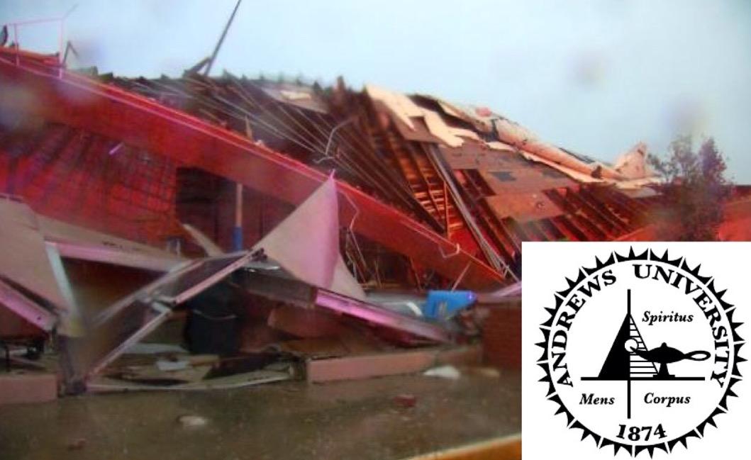 Andrews University gives thanks after tornado destroys eyesore gym
