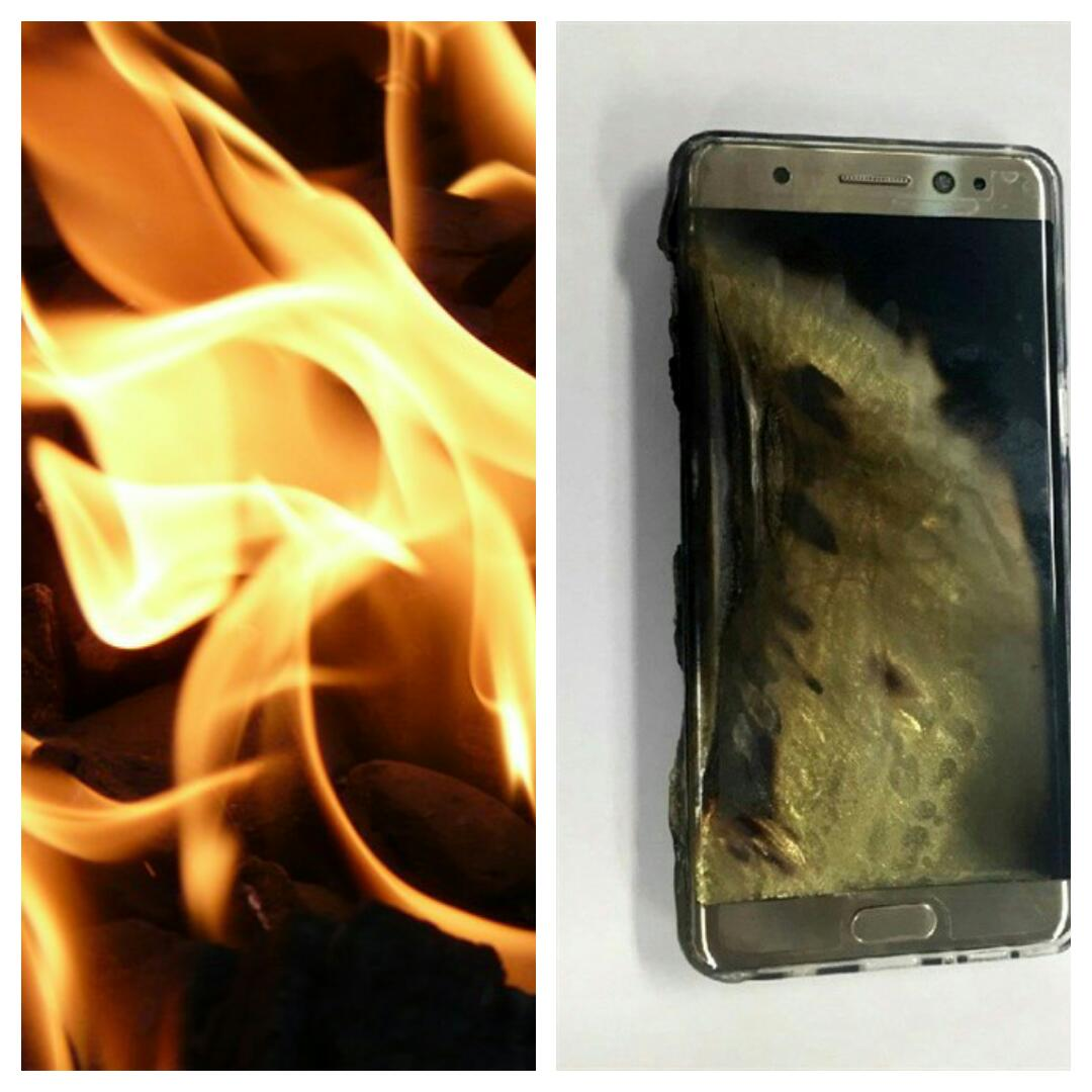 Pathfinders taught to light campfires with a Samsung Note 7