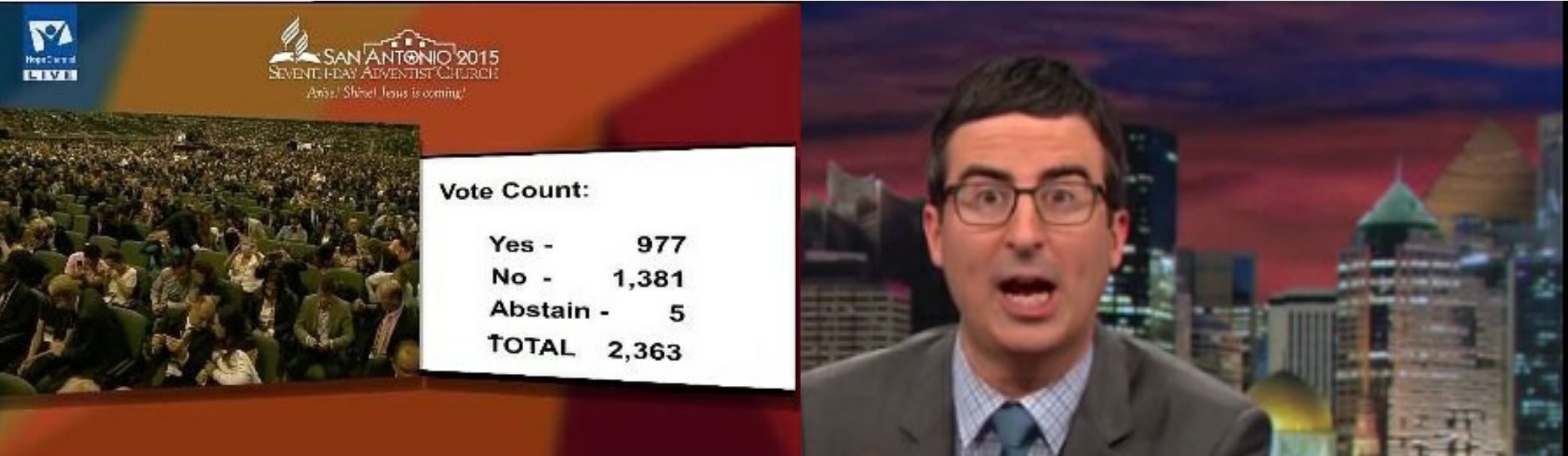 John Oliver tackles women's ordination in Adventism