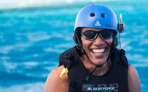 Obama to teach kitesurfing at Camp Au Sable