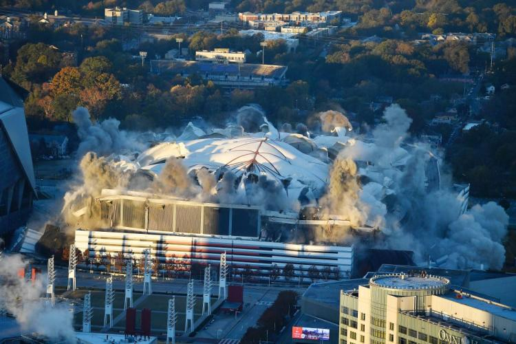 Georgia Dome Implodes From Guilt Over Hosting Ted Wilson's 2010 Election