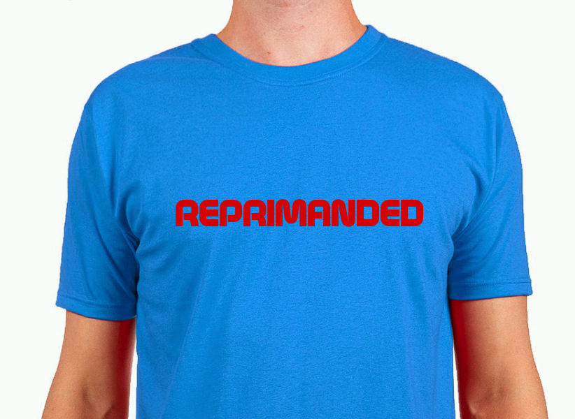 """ABC stores sell out of """"REPRIMANDED"""" T-shirts"""